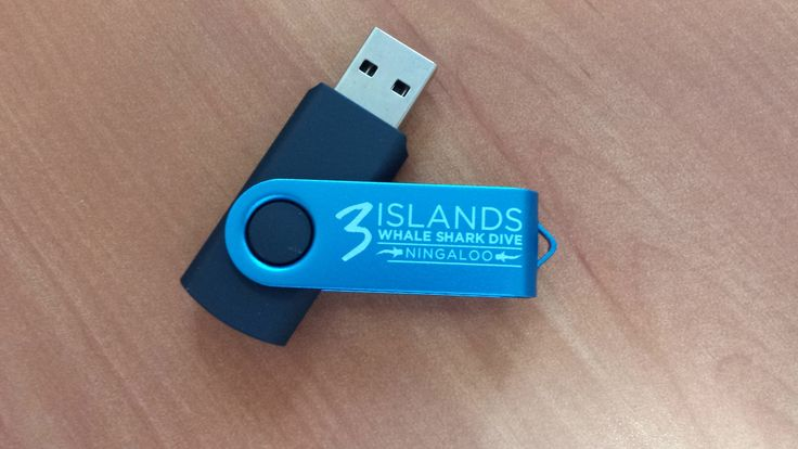 Printed 4GB USB's for 3 Islands Whale Shark Dive Ningaloo.