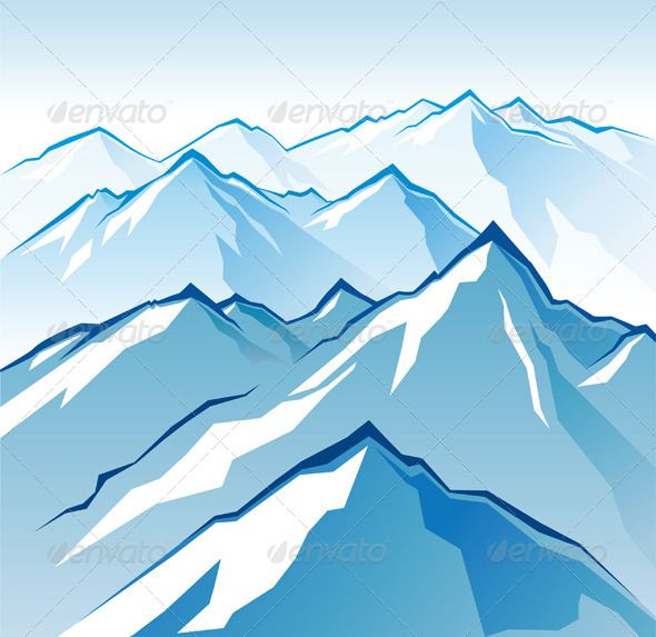 cartoon mountains - Google Search