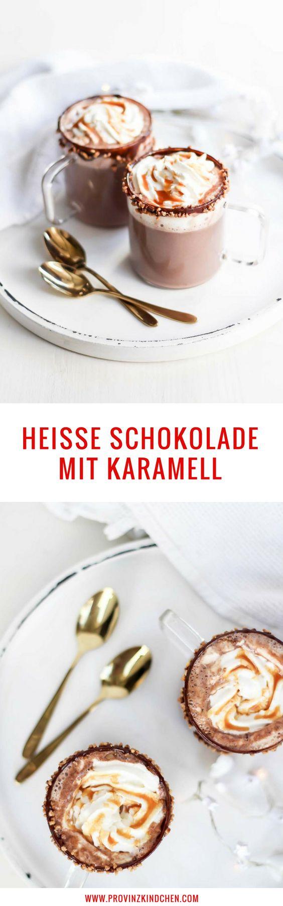 Rezept für heisse Schokolade mit Karamell zum selber machen.