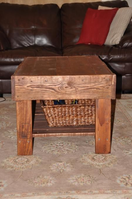 Recycled pallet wood coffee table do it yourself home projects from ana white build for Do it yourself coffee table