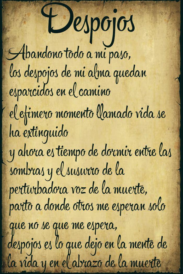 Despojos poetry by Ari El