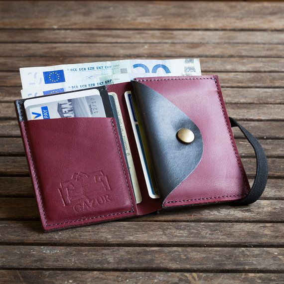 Women's leather Wallet Minimal leather Wallets Handmade by Gazur