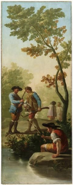 GOYA. El pescador de caña/The Angler Óleo sobre lienzo. 1775 Óleo sobre lienzo, 289 x 110 cm.