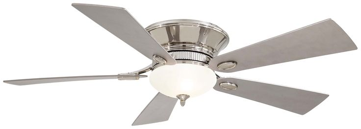 Awesome MinkaAire Delano II 5 Blade Delano II Hugger Ceiling Fan with Blades and Int Polished Nickel Fans Ceiling Fans Indoor Ceiling Fans Top Design - Amazing 5 light ceiling fan Modern
