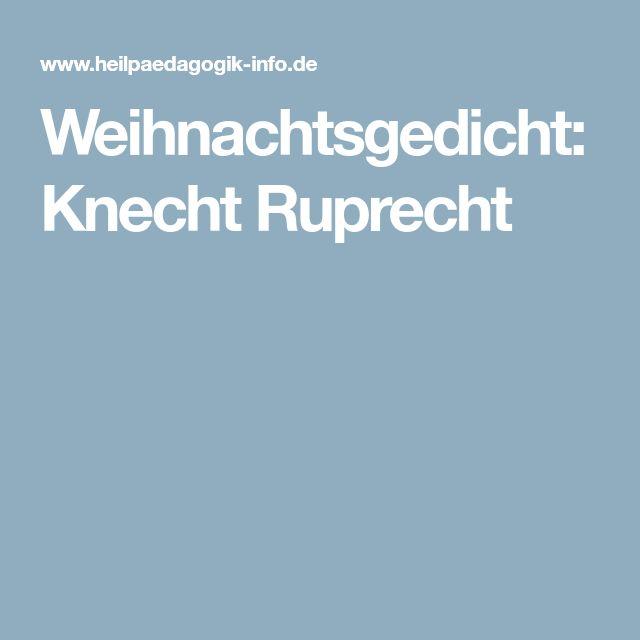 Weihnachtsgedicht: Knecht Ruprecht