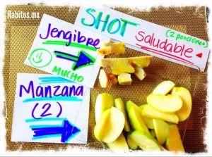 Shot: Manzana y jengibre