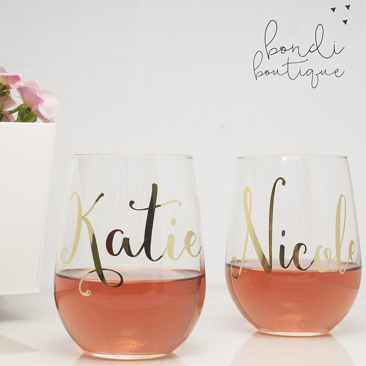 Custom Wedding Wine Glasses- ON SALE! by Bondi Bella Boutique