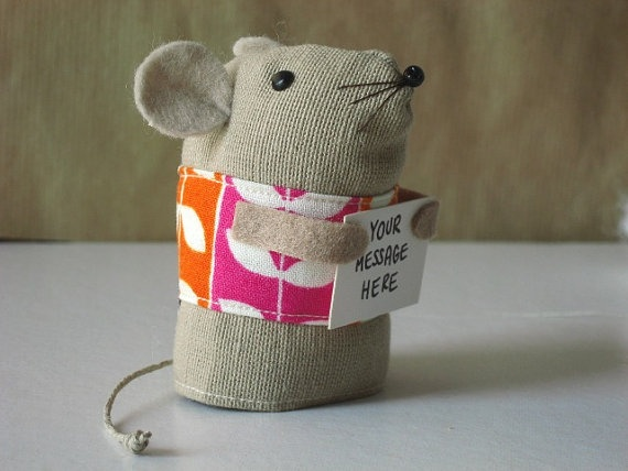 personalized message mouse: super cute!