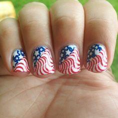 Vintage Flag Nails