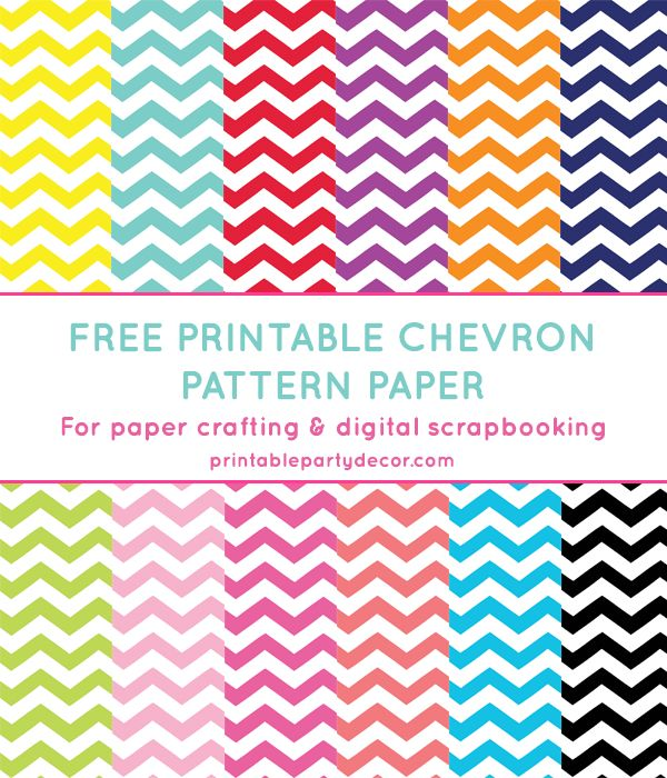 Free Printable Chevron Digital Paper | Printable Party Decor #freeprintable