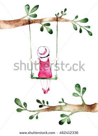 Spring Girl - Illustration. Watercolor Background. Colorful Abstract Texture.  @knyshksenya #illustration #illustrator #ksenyaknysh #watercolor #girl #flowers #nature #illustration #art
