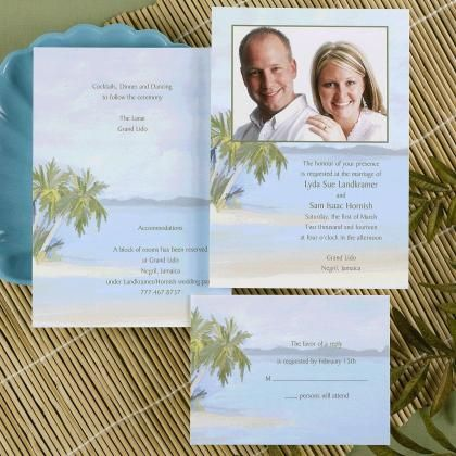 Beach Photo Wedding Invitations