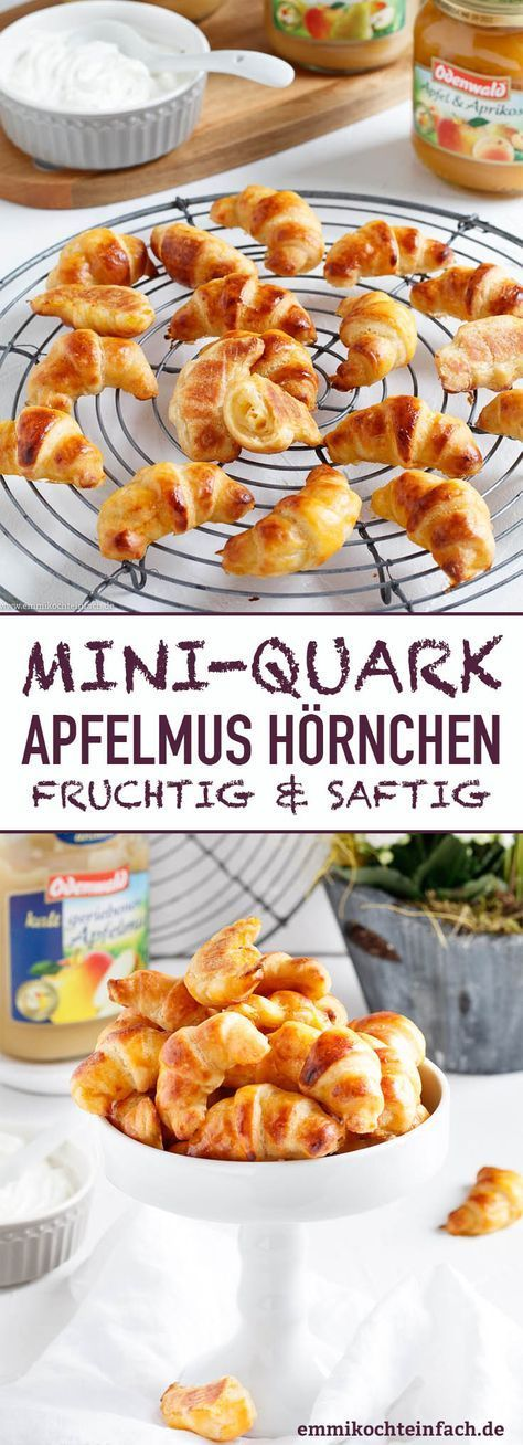Mini Quark-Apfelmus Hörnchen - www.emmikochteinfach.de