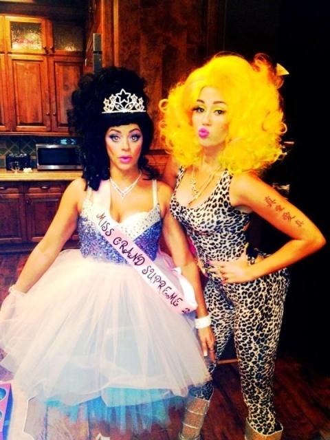 Miley Cyrus as Nicki Minaj