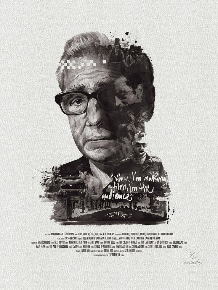 martin scorsese - Movie director portraits created through their movies