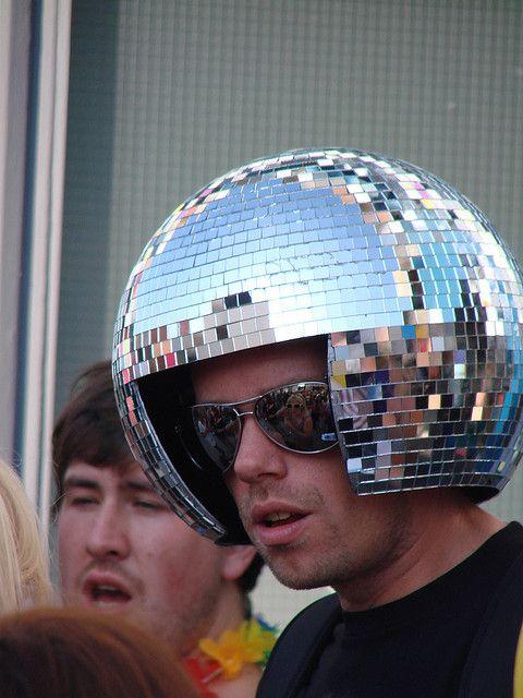 Inspiration disco costume: Disco Ball Hat via Flickr   Halloween/ Festival Fancy Dress Costume