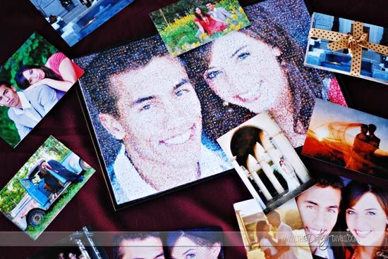 Photomosaic using your own photos!  This would be such a great gift!!!
