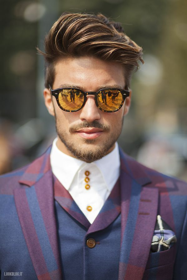 Reflective Sunnies...Got to have it? Make it stop?  Mariano di Vaio | Giorgio Leone | Lookblog | Streetstyle