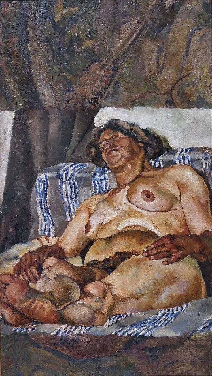 Fausto Pirandello, Nudo in prospettiva