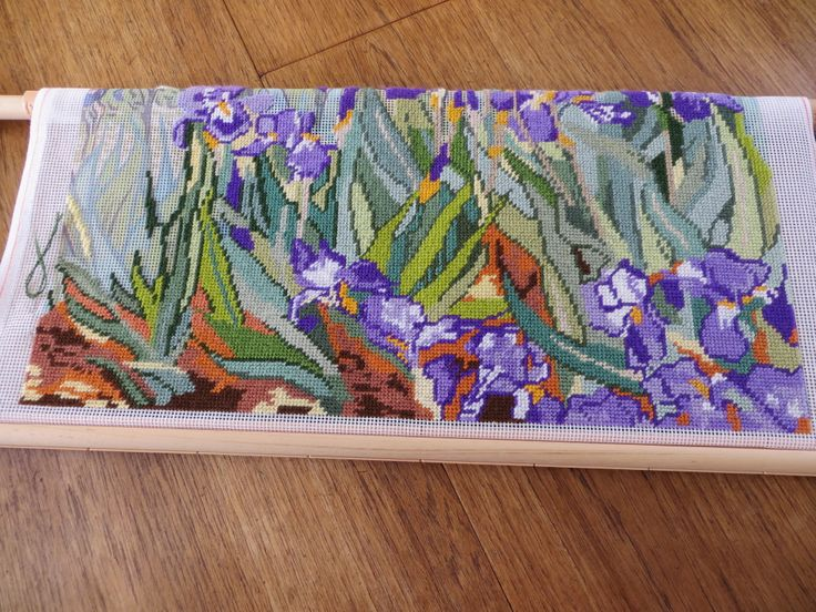 Tapestry of Van Gogh Irises - hope to finish this very soon, over a year so far!
