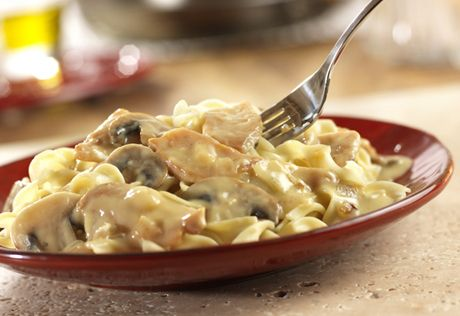 Here's a twist on traditional Stroganoff, it features flavorful chicken in savory cream sauce. Best of all, it's ready in less than an hour.