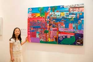 31st UOB Painting Of The Year Competition  Young Artists in the Limelight    The majority of the awards in the 31st United Overseas Bank (UOB) Painting Of The Year (POY) competition were won by youths aged between 10 to 18 years. They swept two thirds of the prizes in the annual competition.    Image: Ten year-old winner Andrea Yap En Rui.
