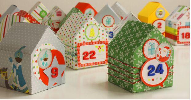Aprende a hacer Calendario de Adviento para Navidad (casitas de papel) – Aprende Con Diana