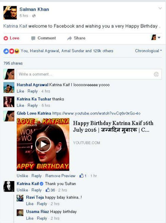 Katrina Kaifs reply to Salman Khans birthday wishes is amazing