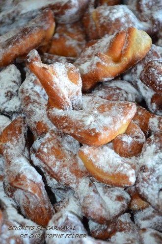 Délicieux beignets de carnaval de Christophe Felder,tout moelleux,et bien parfumés: