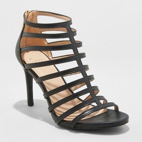 Caged heels, Pumps heels, Black high heels