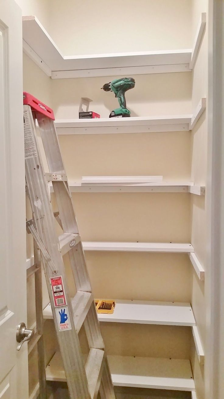 Pantry Redesign Pantry Makeover Installing Wood Shelving