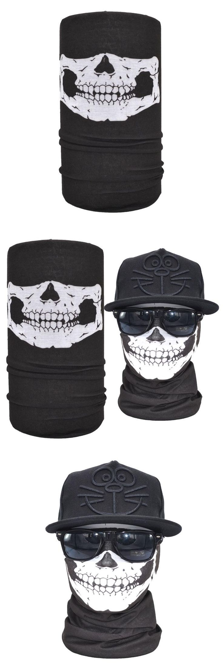 Classic Seamless Skull Bandana Outdoor Elastic Magic Face Shield Mask