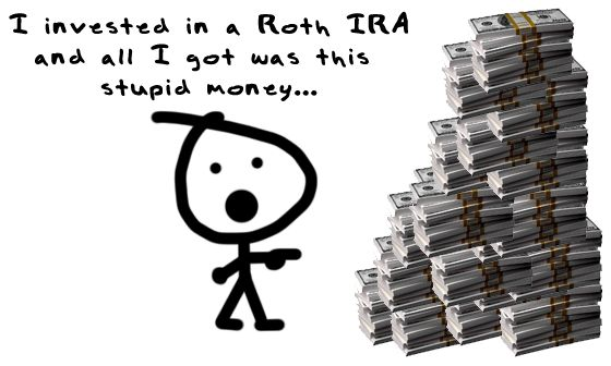 If you don't already know, the Roth IRA is a way to get insanely rich with minimal effort. This holds especially true for younger people. The younger you are, the more time your money has to grow. Compound interest for the win!!!! The Roth lets you make contributions with your after tax money (the money you actually get in your paychecks). Your contributions grow tax-free forever and you get to pull out all the profits without having to pay anyone a dime. It's seriously amazing!