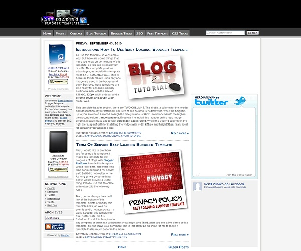 easy blogger templates