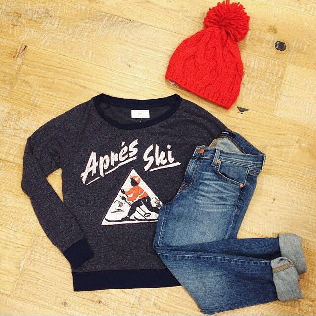 Apres ski! Need this entire outfit for winter.                                                                                                                                                                                 Mais