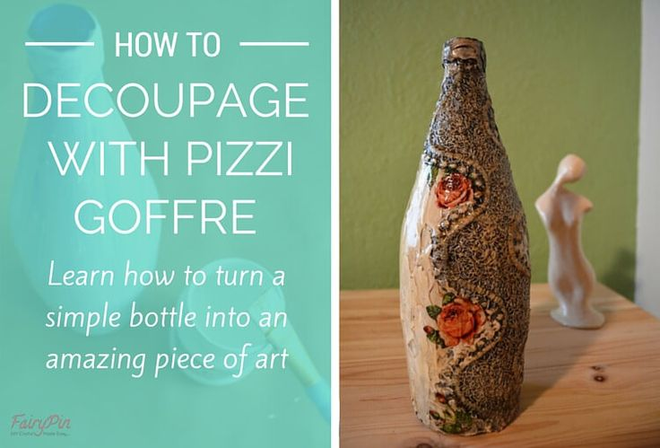 How to decoupage on glass with pizzi goffre technique