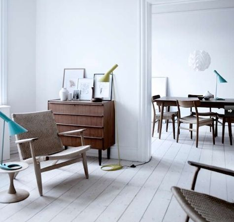 Nice mix of Jacobsen AJ Lamps and Wegner Chairs