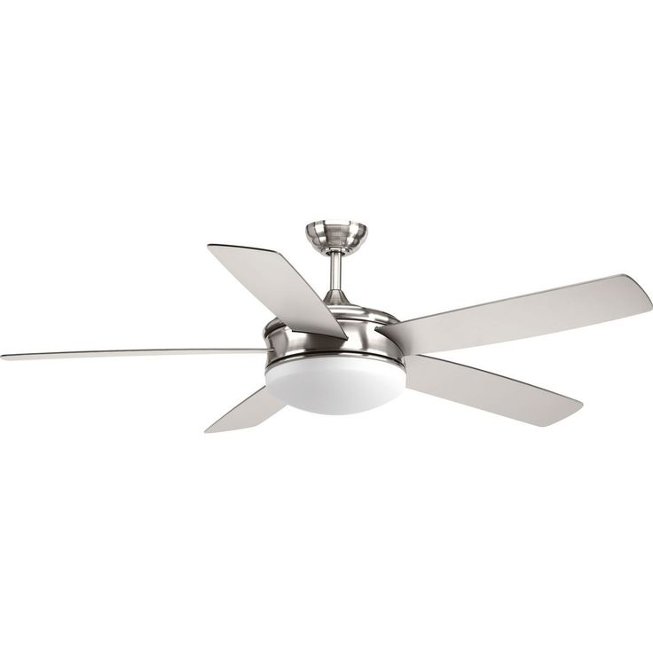 Progress Lighting Fresno Collection Brushed Nickel Plywood 60-inch 5-blade Ceiling Fan