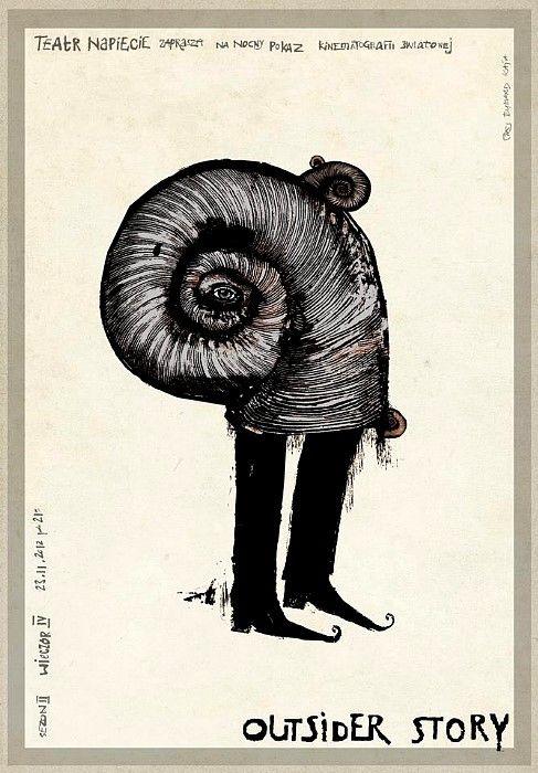 Outsider Story, Polish Poster - Ryszard Kaja