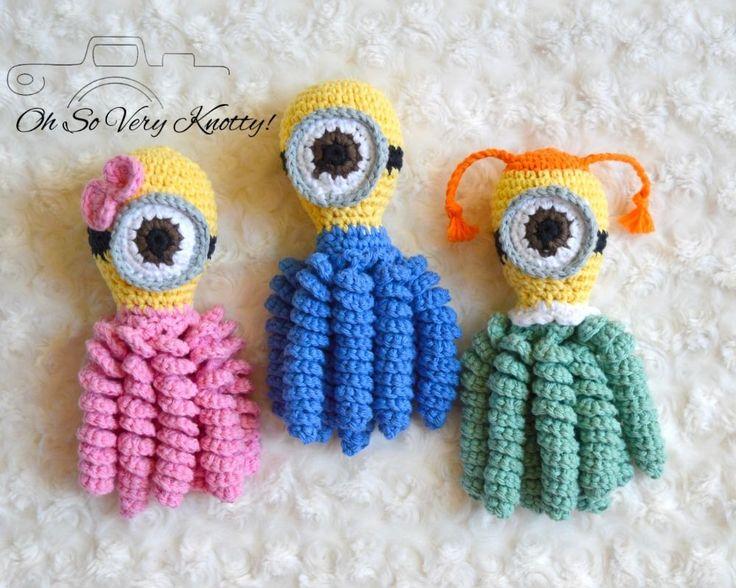 "Minion Handmade Amigurumi Preemie-Buddy, Preemie-comfort octopus, Baby Toy 7""   eBay"
