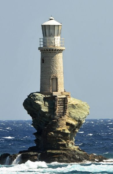 Famous lighthouse off Chora