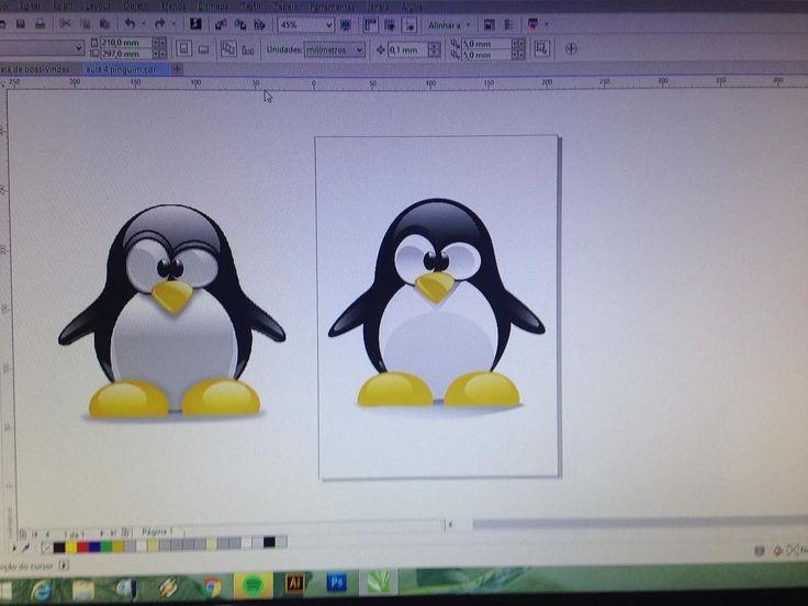 Vetor sux  haja paciência  mas ficou legal meu pinguim do #Linux  Estudo em corel x6  #vetor #coreldraw #estudo by miltonaguiar