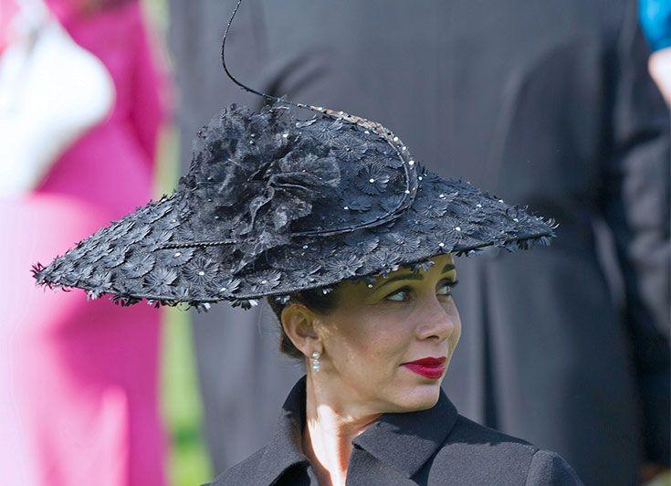 16 June 2015 - Princess Haya at Royal Ascot, England - hat by Philip Treacy