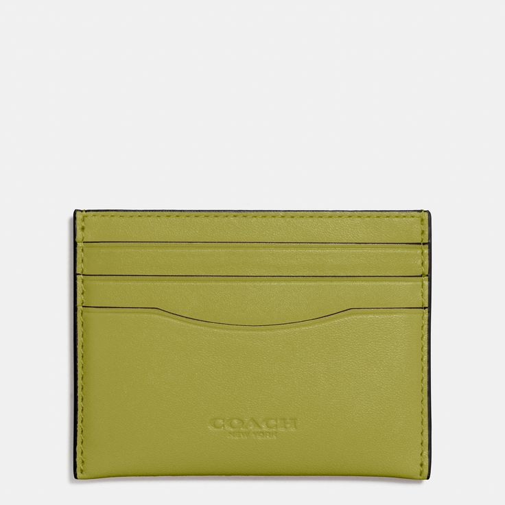 COACH Flat Card Case In Glovetanned Leather. #coach #bags #leather #wallet #accessories #