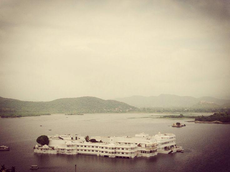 Taj Lake Palace Hotel #Udaipur #India In the middle of Lake Pichola