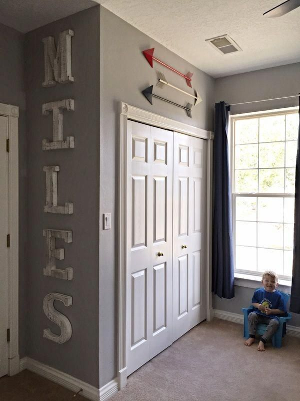 Little boy room! Toddler decor. Sports, superheroes, and ...
