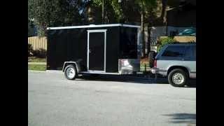 Cargo Trailer Camper Conversion, via YouTube.