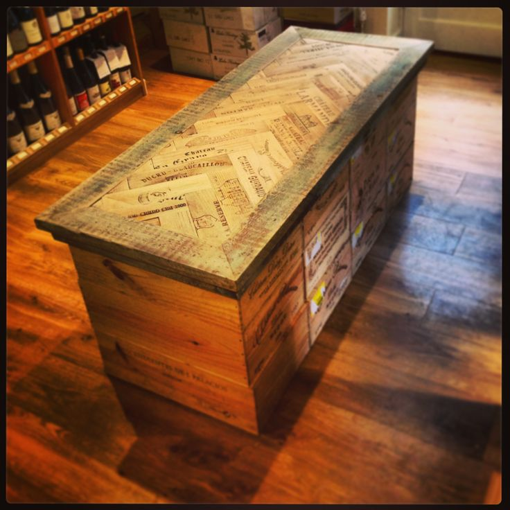 Rustic wine box table