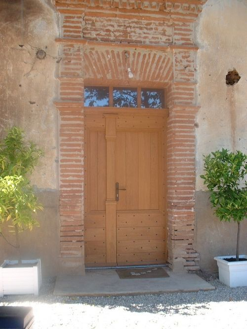 Oak front door made by a master craftsman in France. Philippe has been asked to quote for a door for our home in France.