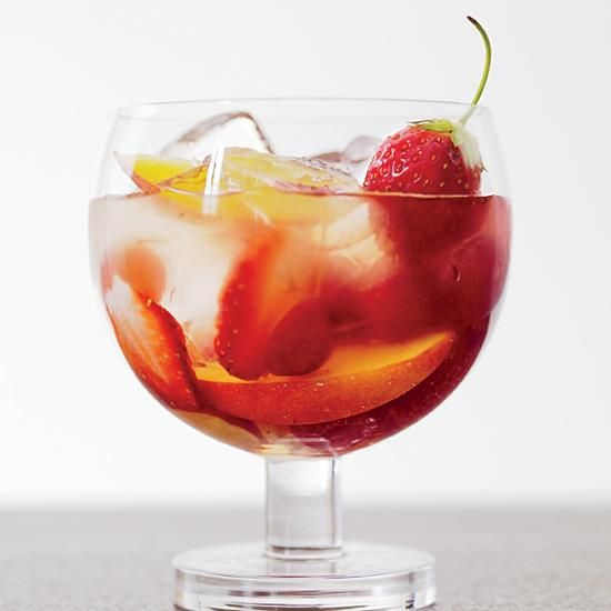 Sangria Flora | Lynnette Marrero created this delicate sangria with St-Germain, an aromatic elderflower liqueur that's delicious with a tropical-fruit-inflected Sauvignon Blanc.